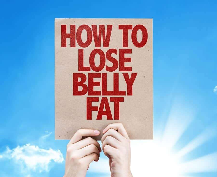 How To Lose Belly Fat card with sky background